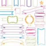 Wektorowy Ustawiający ręka Rysujący Doodle sieci projekta element ilustracja wektor