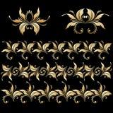 Wektorowy ustawiający roczników dekoracyjni elementy Fotografia Royalty Free