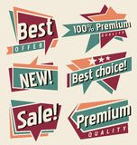 Wektorowy ustawiający rocznik etykietki i sztandary Obraz Royalty Free