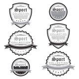 Wektorowy ustawiający sportów emblematy Logo etykietki i odznaki royalty ilustracja