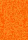 Wektorowy ustawiający straszni, Śmieszni kolorowi charaktery z różnym emo, Zdjęcia Stock