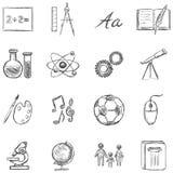 Wektorowy Ustawiający Szkolnych tematów ikony ilustracji