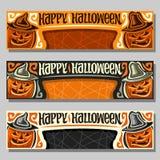 Wektorowy ustawiający sztandary dla Halloweenowego wakacje ilustracja wektor