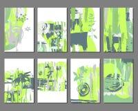 Wektorowy ustawiający textured skrobanina wykłada i okręgi ilustracja wektor