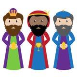 Wektorowy Ustawiający Trzy Magi lub mędrzec Zdjęcia Royalty Free
