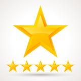 Wektorowy ustawiający złociste gwiazdy Zdjęcia Royalty Free