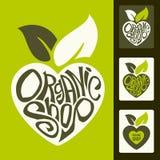 Wektorowy ustawiający zdrowe żywność organiczna etykietki Obrazy Royalty Free
