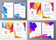 Wektorowy ustawiający dokument, broszurka i letterhead szablon, listu lub loga stylu pokrywy projektujemy mockup dla biznesu Zdjęcie Royalty Free