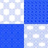 Wektorowy ustawiający etniczni geometryczni wzory Klasyczny grka styl ilustracja wektor