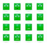 Wektorowy ustawiający glansowani Emoticons Fotografia Royalty Free