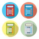 Wektorowy ustawiający kalkulator ikony Fotografia Stock