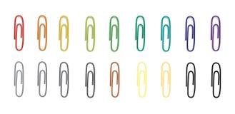 Wektorowy ustawiający kolorowe klamerki Fotografia Royalty Free