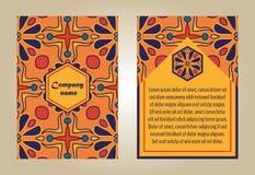 Wektorowy ustawiający kolorowi broszurka szablony dla biznesu i zaproszenia Zdjęcia Stock