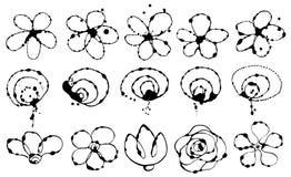 Wektorowy ustawiający kwiaty Obraz Royalty Free