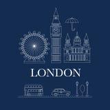 Wektorowy ustawiający Londyn Zdjęcia Stock