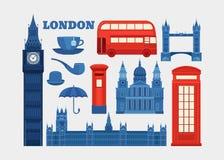 Wektorowy ustawiający Londyn Obrazy Royalty Free