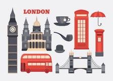 Wektorowy ustawiający Londyn Fotografia Stock