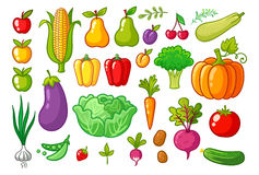 Wektorowy ustawiający z warzywami Obraz Royalty Free