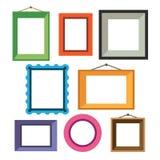 Wektorowy ustawiający różne kolorowe fotografii ramy Zdjęcie Stock