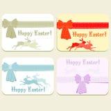 Wektorowy ustawiający Wielkanocne karty Obraz Royalty Free