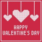 Wektorowy valentine z sercami Obrazy Stock