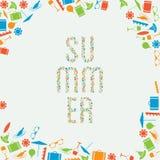 Wektorowy wakacje letni sztandar z miejscem dla twój zawartości Ilustracja Wektor