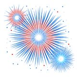 Wektorowy wakacyjny fajerwerk Dzień Niepodległości America Obrazy Stock