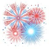 Wektorowy wakacyjny fajerwerk Dzień Niepodległości America Obraz Royalty Free