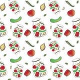 Wektorowy warzywo wzór Zdjęcia Royalty Free
