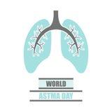 Wektorowy Światowy astma dzień Fotografia Royalty Free