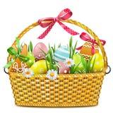 Wektorowy Wielkanocny kosz ilustracji