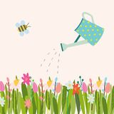 Wektorowy Wielkanocny kwiecisty tło ilustracji
