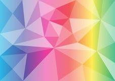 Wektorowy wielobok tęczy koloru abstrakta tło royalty ilustracja