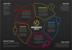 Wektorowy wielocelowy Infographic szablon Obrazy Royalty Free