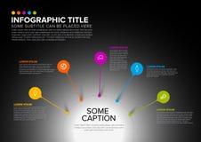 Wektorowy wielocelowy Infographic szablon Zdjęcie Stock