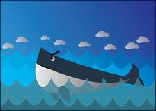 Wektorowy wieloryb Zdjęcie Royalty Free
