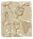 Wektorowy wino Obrazy Stock