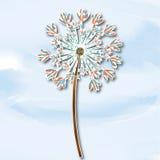 Wektorowy wiosny tło z białymi dandelions Fotografia Stock