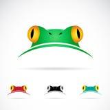 Wektorowy wizerunek żaby głowa Zdjęcia Stock