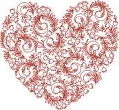 Wektorowy wizerunek dekoracyjny kwiecisty serce obraz stock