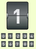 Wektorowy wizerunek elektroniczna deska z abecadłem liczby ustawiają Obraz Royalty Free