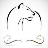 Wektorowy wizerunek żeński lew Obrazy Royalty Free