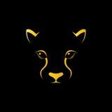 Wektorowy wizerunek gepard twarz Zdjęcia Stock
