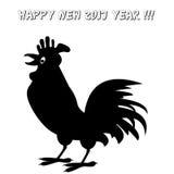 Wektorowy wizerunek kogut Szczęśliwy Nowy 2017 rok pojęcie szyldowy Chińczyka zodiak fotografia stock