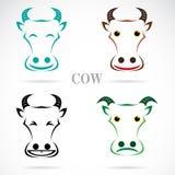 Wektorowy wizerunek krowy twarz Obrazy Stock