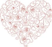 Wektorowy wizerunek ornamentacyjny kwiecisty serce obraz royalty free