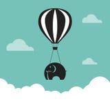 Wektorowy wizerunek słoń z balonami Zdjęcia Royalty Free