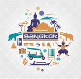Wektorowy wizerunek Thailand rzeczy ilustracja wektor