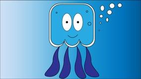 wektorowy wizerunek wesoło jellyfish Zdjęcie Stock