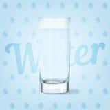 Wektorowy wizerunek wodny szkło Obraz Stock